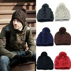 Fashion Men Knit Ski Beanie Pompon Ball Wool Ski Cap Unisex Couples Hat
