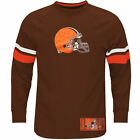 Men's Majestic Brown Cleveland Browns Big & Tall Power Hit Long Sleeve T-Shirt