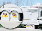 LSU Tigers NCAA Exact Fit White Vinyl Tire Shade Cover by HBS Covers