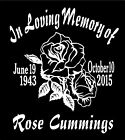 Two Personalized Rose Decals In Loving Memory Of Car Window Vinyl Sticker