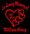 Two Personalized Heart Decals In Loving Memory Of Car Window Vinyl Sticker