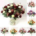 Fashion Artificial Rose Flowers Home Wedding Decoration Chic Fake Silk Flowers