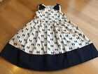 NWT GYMBOREE GIRLS Ciao Puppy Polka Dot Dress Size 3t Dog Navy