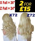 MAX BLONDE Long Curly Layered Half Wig Hair Piece Ladies 3/4 Wig Fall Clip in