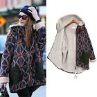 Winter Warm Women Cotton Coat Wool Thick Hooded Hoodies Jacket Outwear Plus Size