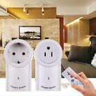 2 Pack Remote Control Socket Wireless Light Switch Light Plug Power Outlet US EU