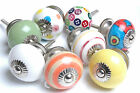 Funky Style Multi-Coloured Ceramic Cupboard Knobs Kitchen Door Drawers (MG-131)