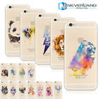 Funny Painted Colorful Watercolor Animal Pattern TPU / PC Phone Shell Case Cover