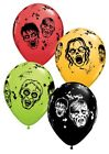 "Halloween Zombies 11"" Helium Quality latex Bright Colour Party Balloons"