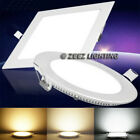 recessed light fixtures - 6W 9W 12W 15W 18W LED Recessed Ceiling Panel Down Lights Bulb Slim Lamp Fixture