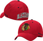 Chicago Blackhawks Face Off Structured Flex Fitted Hat NHL Reebok Official Cap