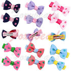 Pair Candy Colors Cute Mini Dot Bow Bowknot Hair Clip Hairpin Bands Kids Girls