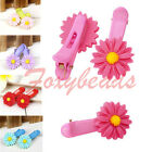 2p Daisy Flower Resin Student Children Baby Girl Hair Clip Hairpin Colorful Gift