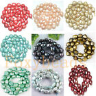 9-10mm Freshwater Pearl DIY Loose Freeform Oval Rice Beads Colors Pick 14-14.5