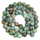 Natural Blue African Turquoise Round Gemstone Beads 15.5