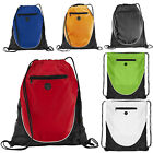 Euro Synergy Gymsac in 4 Colours Zippered Compartment Rucksack Bag (Peek)