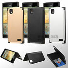 Inverse Hybrid Hard Armor Stand Protector Cover For ZTE Warp Elite N9518