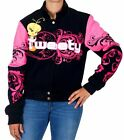 Tweety Bird Ladies Jacket Pink Black Twill Embroidered Tweety ON SALE