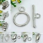 925 Sterling Silver Toggle Lobster Clasp Bead Bolt Key Hook Ring Finding Jewelry
