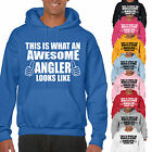 THIS IS WHAT AN AWESOME ANGLER LOOKS LIKE ADULT HOODIE - GIFT UNISEX FISHING