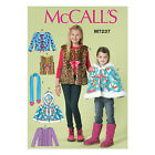 McCall's 7237 Sewing Pattern to MAKE Girls' Vest Cape Jackets Fleece or Stretch