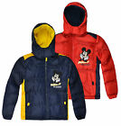 Boys Official Mickey Mouse Puffa Coat New Kids Outerwear Jacket Ages 3-8 Yearss