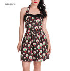 HELL BUNNY Goth Party Bloody EYEBALL Perry Mini Dress All Sizes