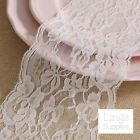 "1/10 Yards Soft White Lace Trim 4.5""/11.5cm Wide Wedding Bridal Sewing DIY Craft"