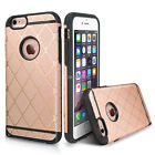 For Apple iPhone 6S & Plus Shockproof Tuff Hybrid Hard+Soft Case Cove w/Dust Cap