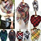 Women Blanket Oversized Tartan Scarf Wrap Shawl Plaid Cozy Checked Pashmina
