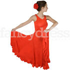 Fabulous Spanish Black Flamenco Dance Dress Lovely Full Skirt Circular NEW