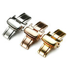 Stainless Steel Butterfly Deployment Watch Bands Double Push Button Buckle Clasp