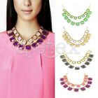 Fashion OL Style Women's Resin Square Pendant  Necklace Chain Adjustable