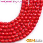Pretty Column Red Coral 7x6mm Gemstone DIY Jewelry Making Loose Beads Strand 15""