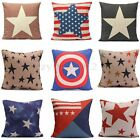 Cotten Linen Star Throw Pillow Case Cushion Covers Cushions Home Bed Sofa Decor
