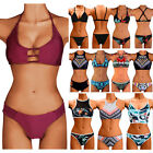 Sexy High Neck Bikini Set Push Up Pad Top Hipster Swimsuit Swimwear Bathers FO