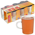 6 Termisil Glass Mugs Hot Cold Drinks Serving Glassware Coffee Tea Clear Style