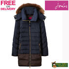 Joules Cossington Ladies Longline Padded Jacket Coat (T) **FREE UK Shipping**