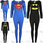 Kids Superman Batman Jumpsuit Girl Playsuit Long Sleeve Onesie All in One Piece