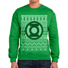 Official Green Lantern Fair Isle Green Christmas Jumper Sweatshirt - DC Comics