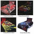 4 Design Choice - Licensed CRUSTY DEMONS Motorbike Queen Quilt Duvet Cover Set