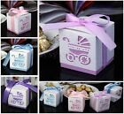 10pcs Laser Cut Baby Carriage Gift Candy Bomboniere Boxes Wedding Party Favor