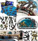 Transformers Bedding And Wall Stickers - Boys Bedroom Comforter Or Sheets Decals