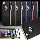 For Apple iPhone 5s 6 6s Plus Hybrid Super Shockproof Rubber Metal Texture Case