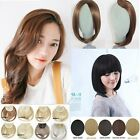 New Hot Clip in Fringe Bangs Hair Straight Style Hair Extensions Brown Black S7G