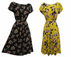 New VTG WW2 Retro 1930's 40's Art Nouveau Floral Tea Dress in two Colour Combo's