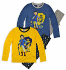 Boys Super 4 Long Sleeved Pyjamas New Childrens Playmobil PJ Set Ages 3-8 Years