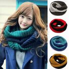 Women Wool Neck Infinity 2 Circle Knit Warm Winter Long Scarf Shawl Wrap Cowl