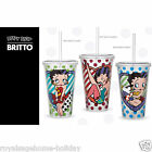 Betty Boop by Britto 17oz Cup w/Straw Kitchen Cold Drink Cartoon American Icon