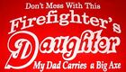 Red T-Shirt with Firefighter Daughter Design --AmHeroes Original Design